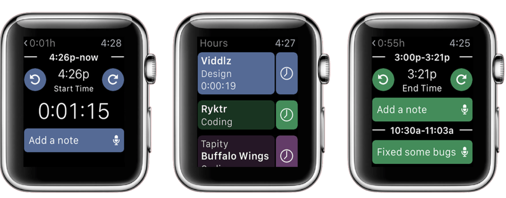 Hours Time Tracking App Apple Watch