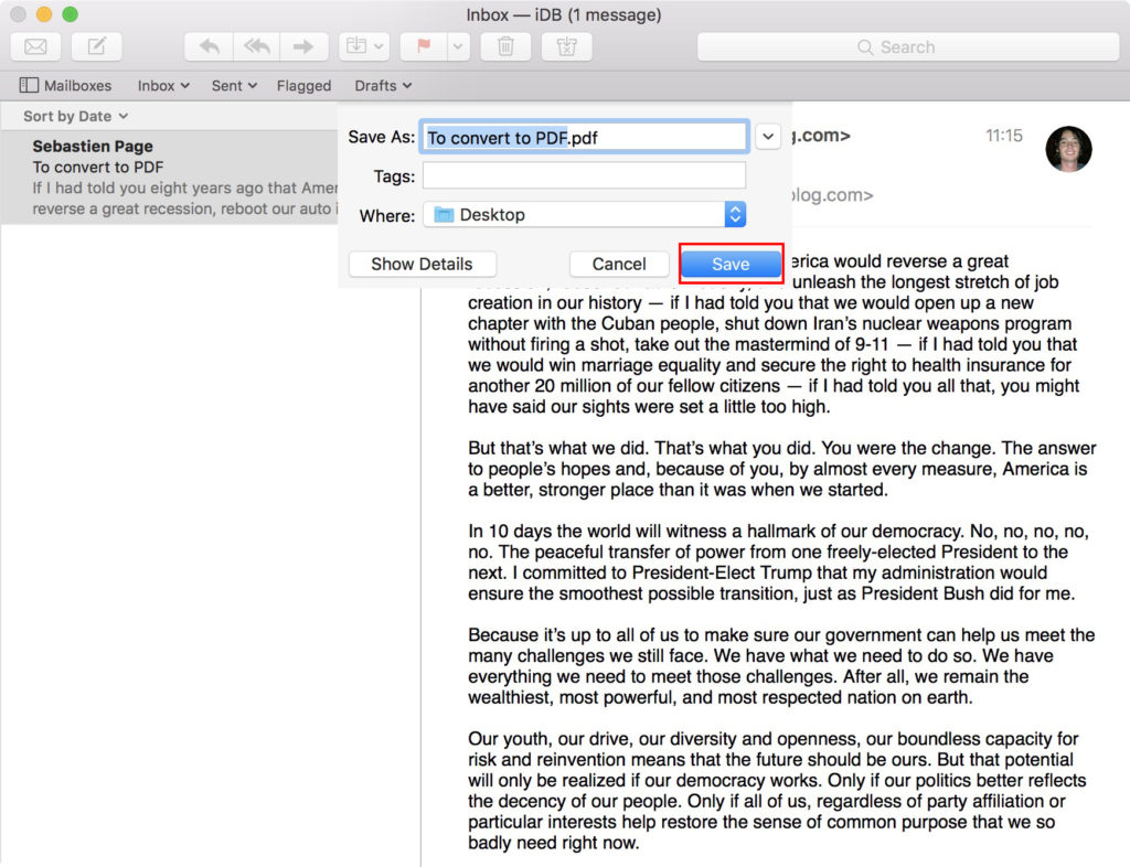 Save Email As Pdf On Mac