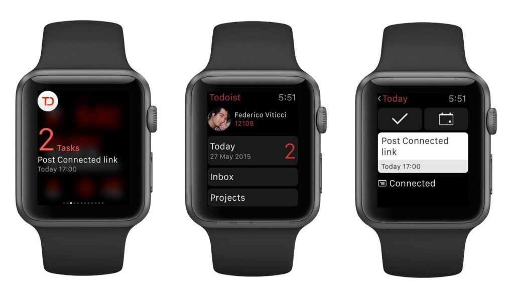 Todoist App Apple Watch