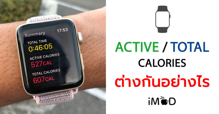 Active Calories Total Calories Apple Watch