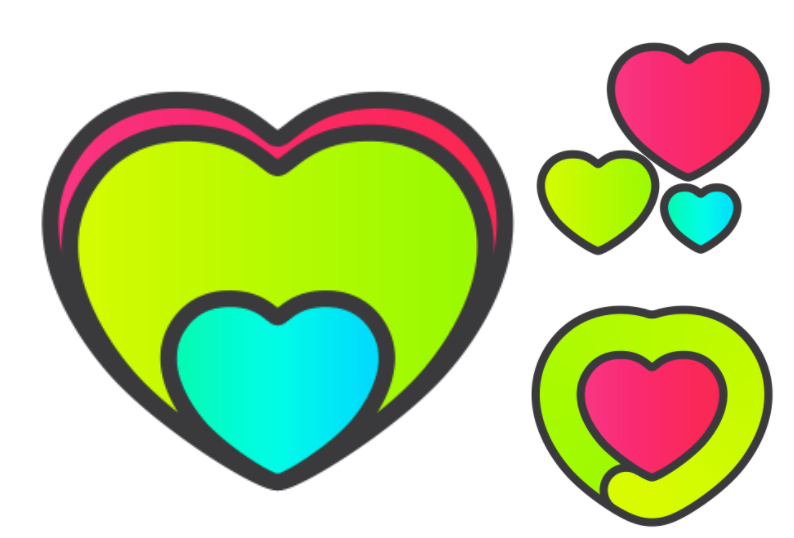 Apple Watch Heart Valentine Day Acheivement Sticker