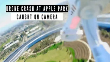 Drone Crash Spaceship Roof Apple Park