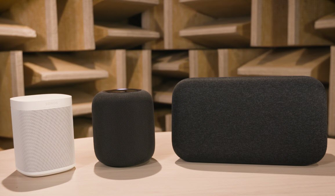 Homepod Sonos One Google Home Max