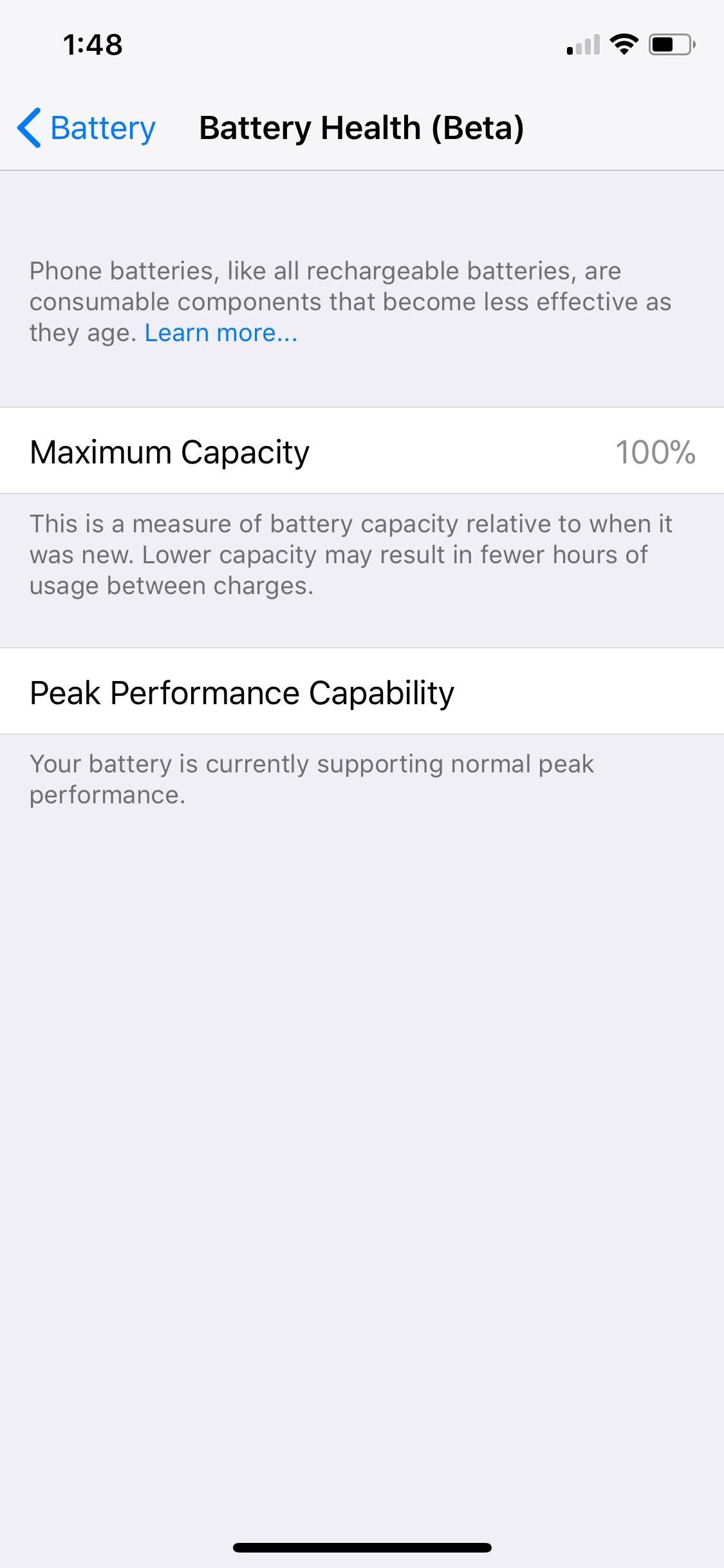 Ios 11 3 Beta 2 Battery Health 2