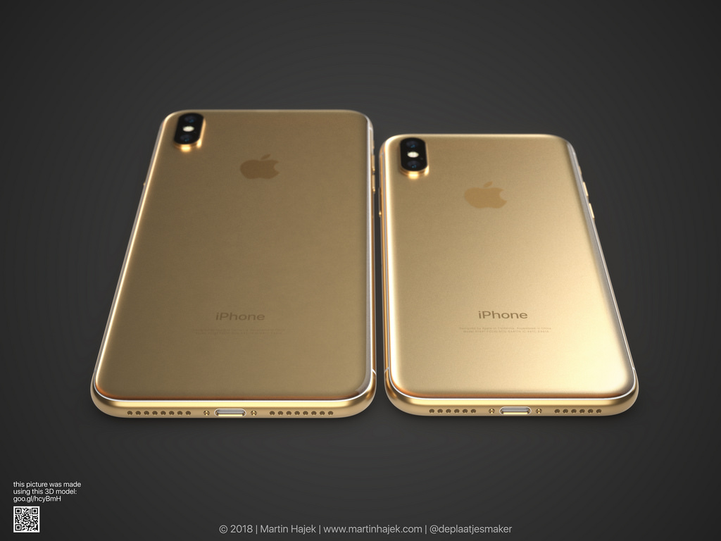 Iphone X Gold Frame Render Image 1
