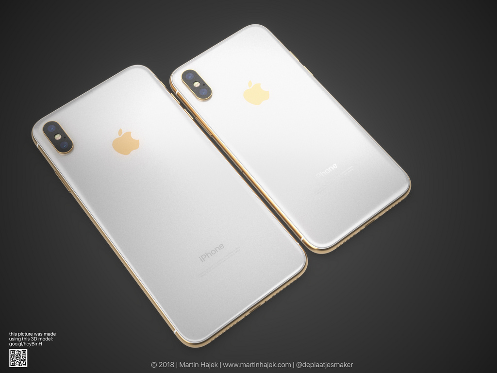 Iphone X Gold Frame Render Image 3