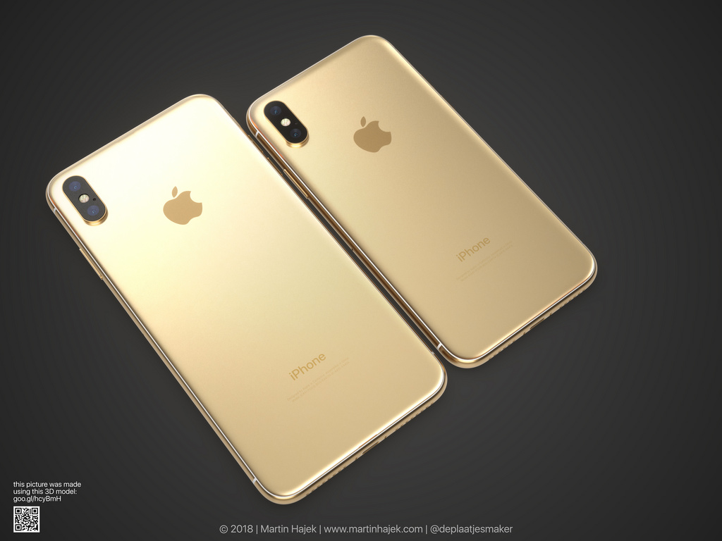 Iphone X Gold Frame Render Image 4
