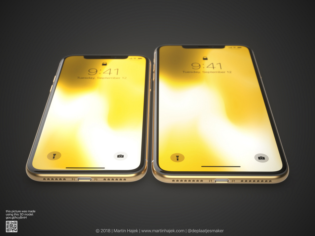 Iphone X Gold Frame Render Image 5