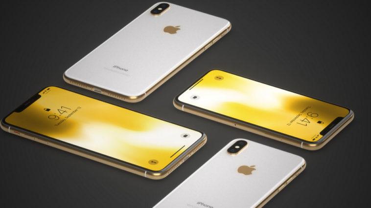 Iphone X Gold Frame Render Image
