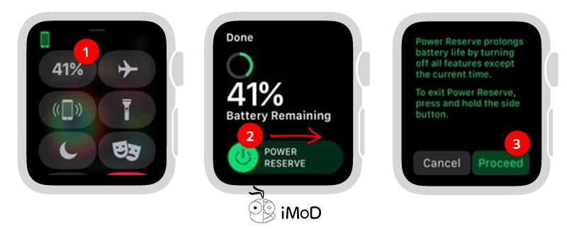 Open Save Mode Apple Watch
