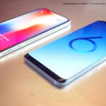 Samsung Galaxy S9 Vs Iphone X 3d Renders 1
