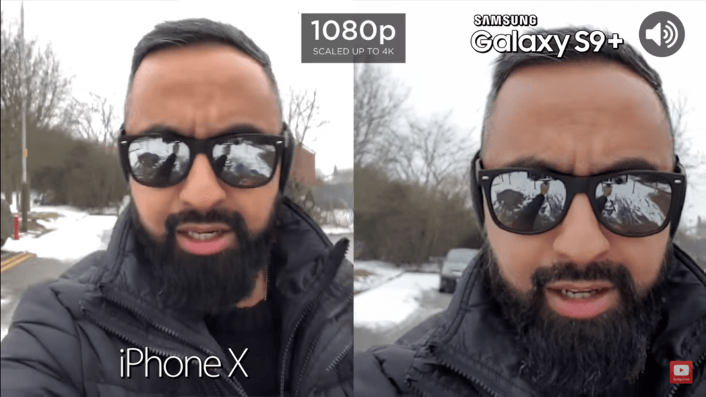 1 Video Font Camera Compare Iphone X Vs Samsung Galaxy S 9 Plus