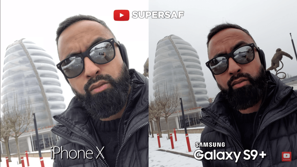 12 Selfie Camera Compare Iphone X Vs Samsung Galaxy S 9 Plus