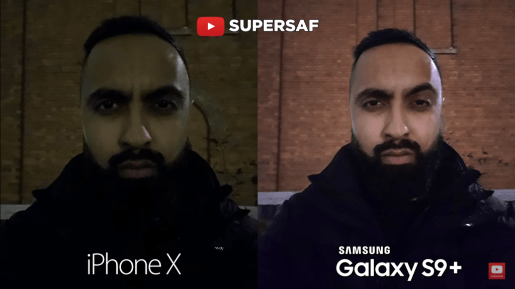 16 Low Light Mode Camera Compare Iphone X Vs Samsung Galaxy S 9 Plus
