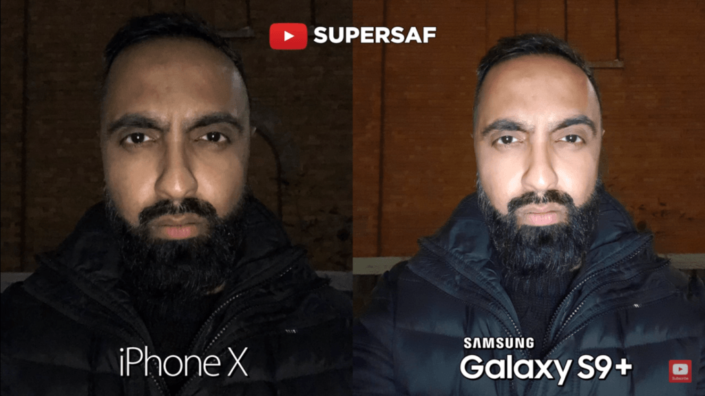 17 Low Light Mode Falsh Camera Compare Iphone X Vs Samsung Galaxy S 9 Plus