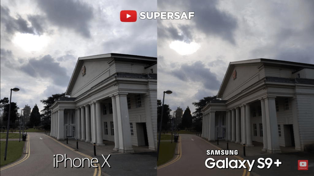 21 Wide Angel Mode Camera Compare Iphone X Vs Samsung Galaxy S 9 Plus