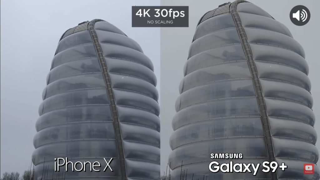 3 Video Back Camera Compare Iphone X Vs Samsung Galaxy S 9 Plus