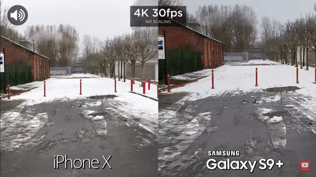 4 Video Back Camera Compare Iphone X Vs Samsung Galaxy S 9 Plus