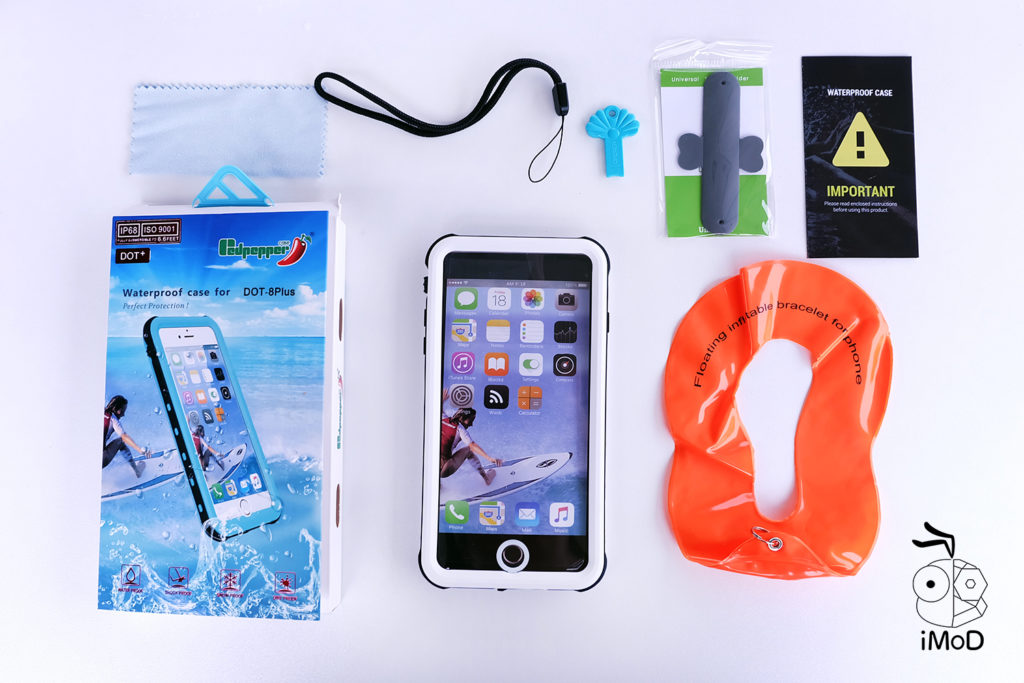 425 Degree Redpaper Waterproof Case For Iphone 8 Plus 6