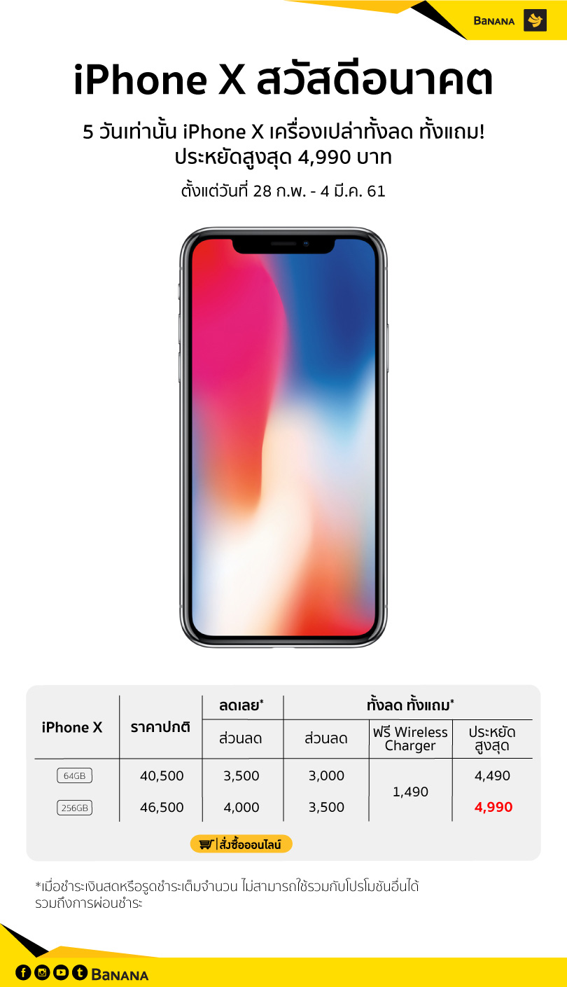Banana Iphone X Promotion Due4mar18 V2