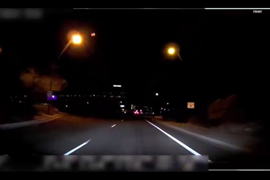 Screengrab From Video Taken Inside Uber's Self Driving Car