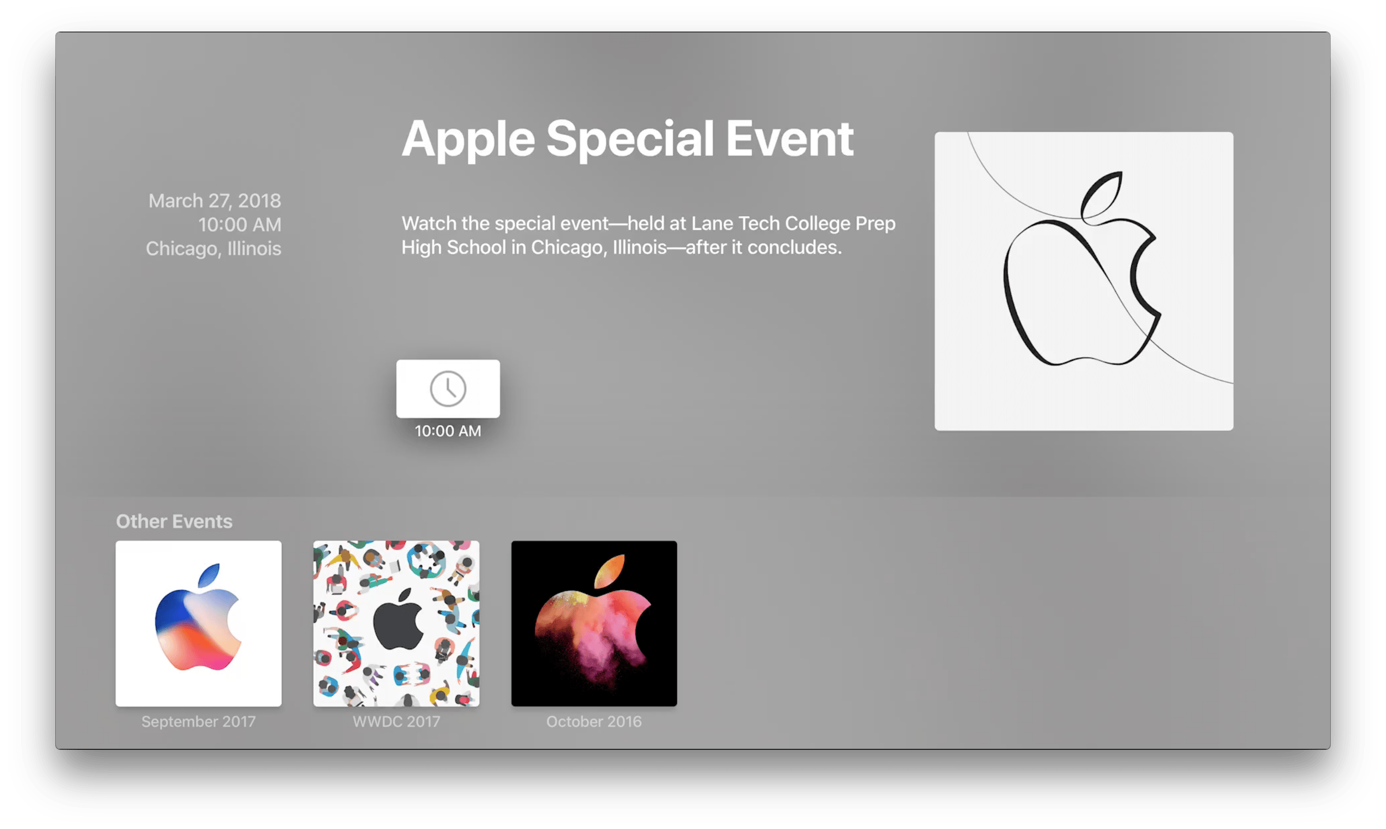 Apple Not Stream March Event 2018 1