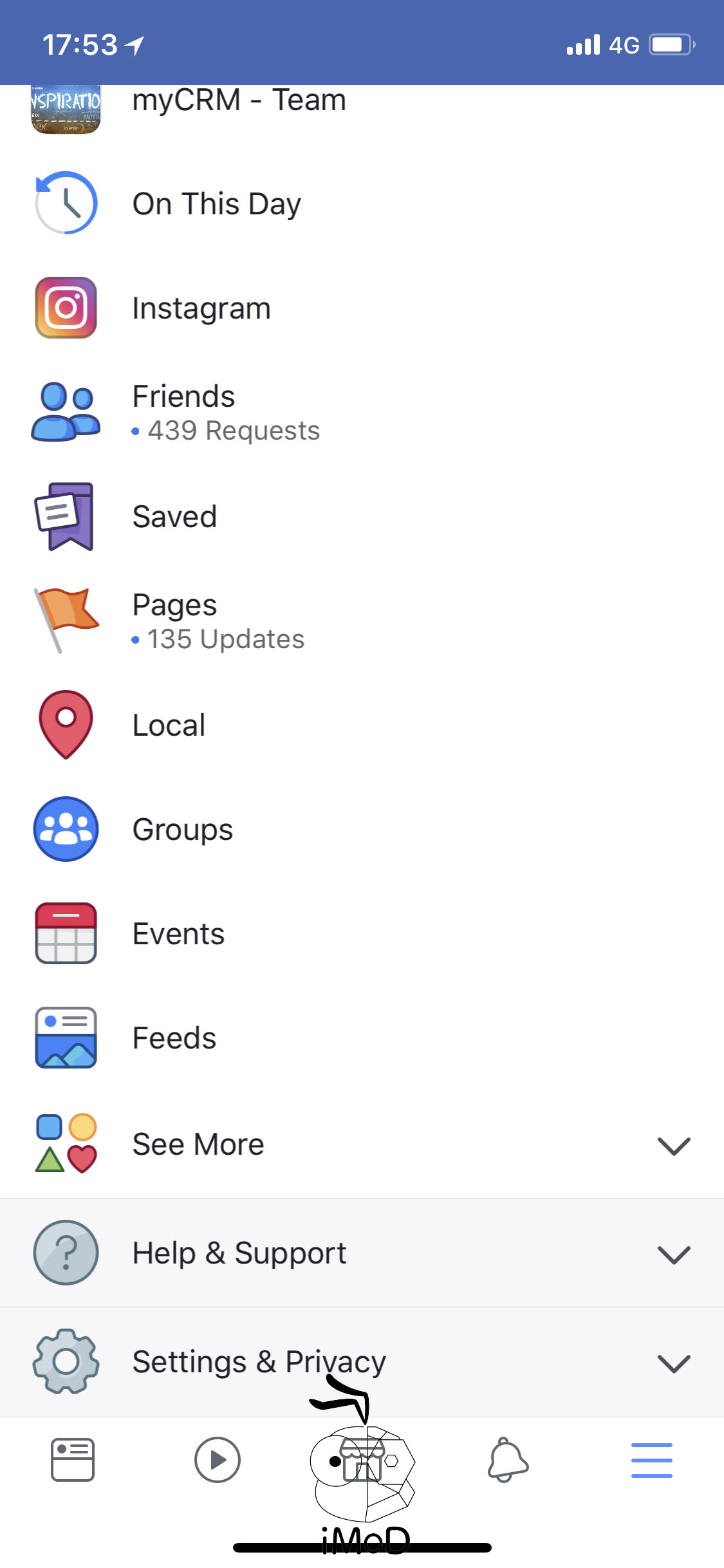 Facebook 163 New Icon More Tab 2