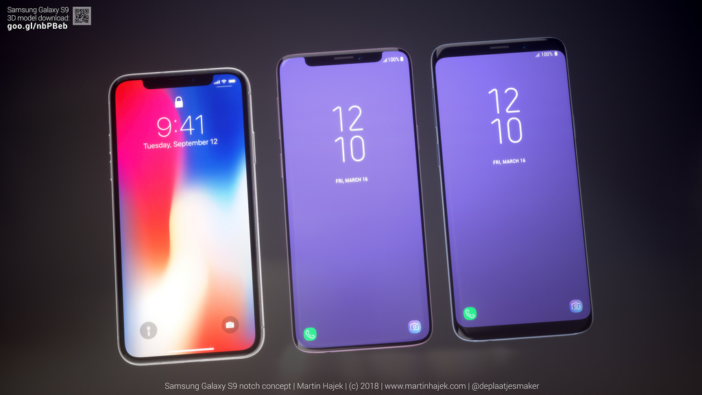 Galaxy S9 Iphone X Notch Concept Image 1
