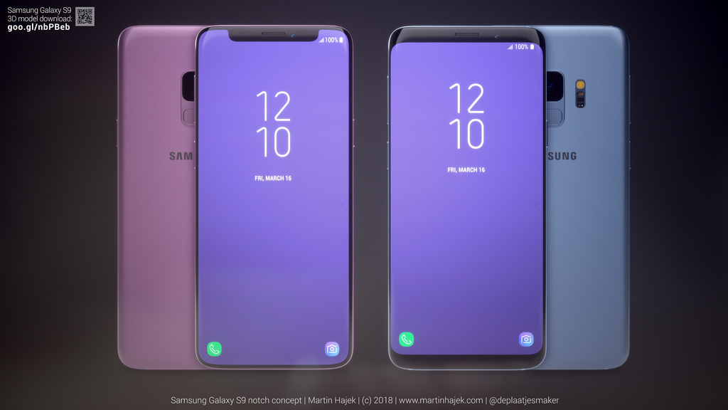 Galaxy S9 Iphone X Notch Concept Image 2