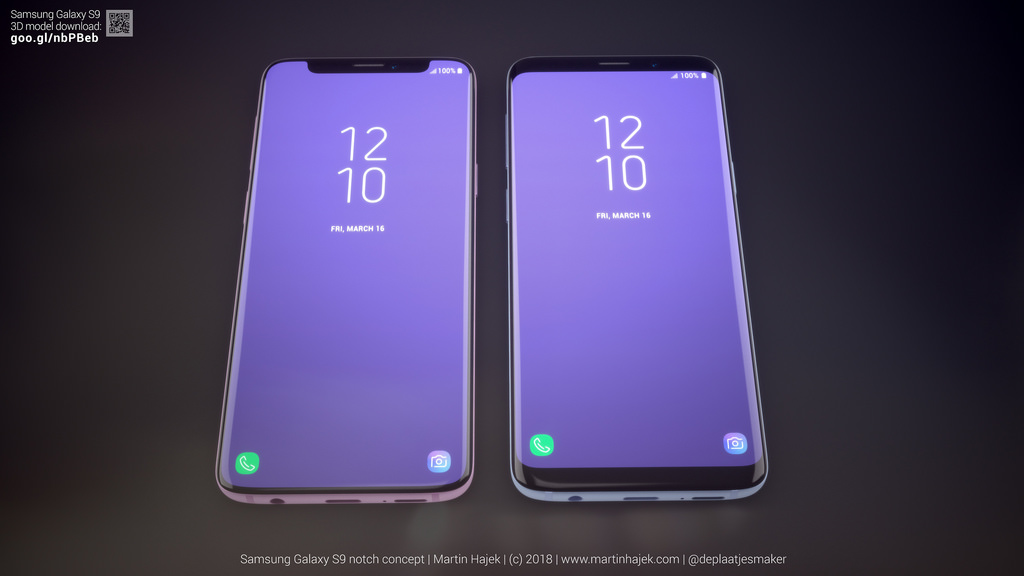 Galaxy S9 Iphone X Notch Concept Image 4