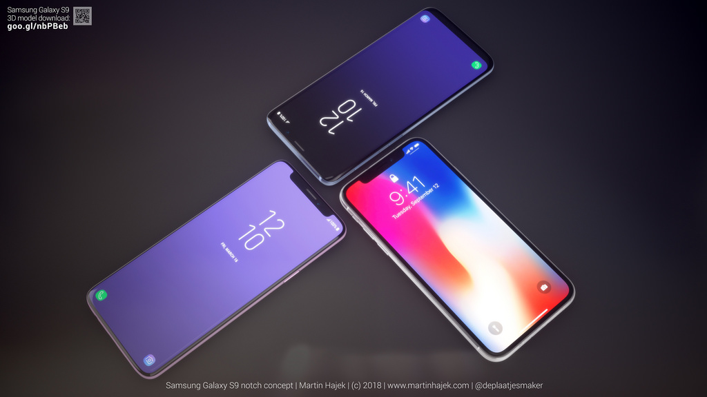 Galaxy S9 Iphone X Notch Concept Image 5