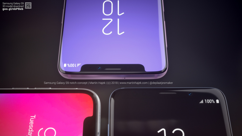 Galaxy S9 Iphone X Notch Concept Image 6