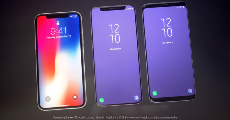 Galaxy S9 Iphone X Notch Concept Image
