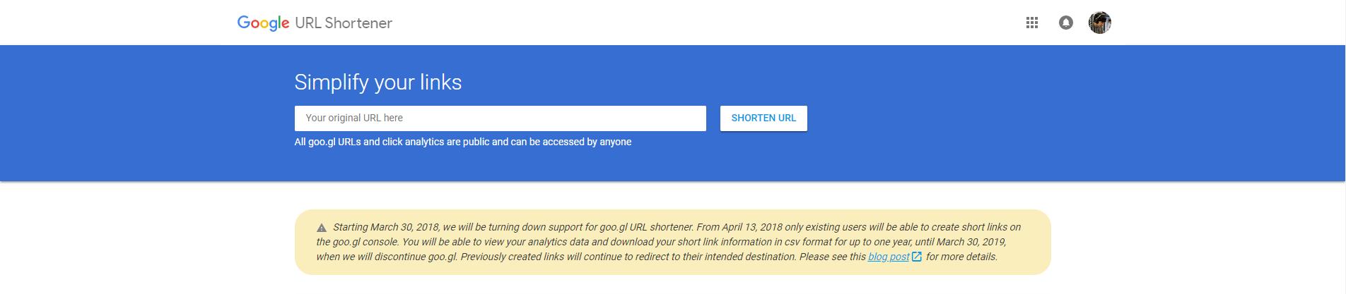 Google ประกาศยุติการให้บริการ goo.gl เว็บไซต์ย่อ URL