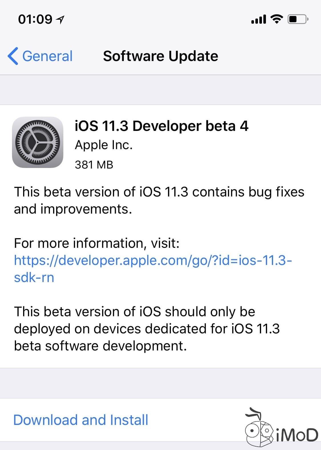 Ios 11.3 Beta 4 Ota