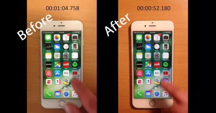 Iphone 6s Before After Battery Replacement Performance