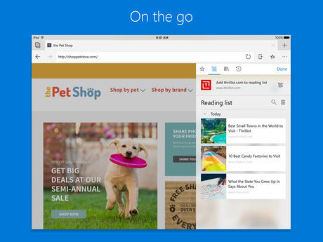 Microsoft Edge Browser For Ios Pad Support 4