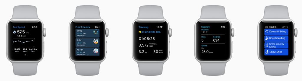 Skiing Snowboard Apple Watch