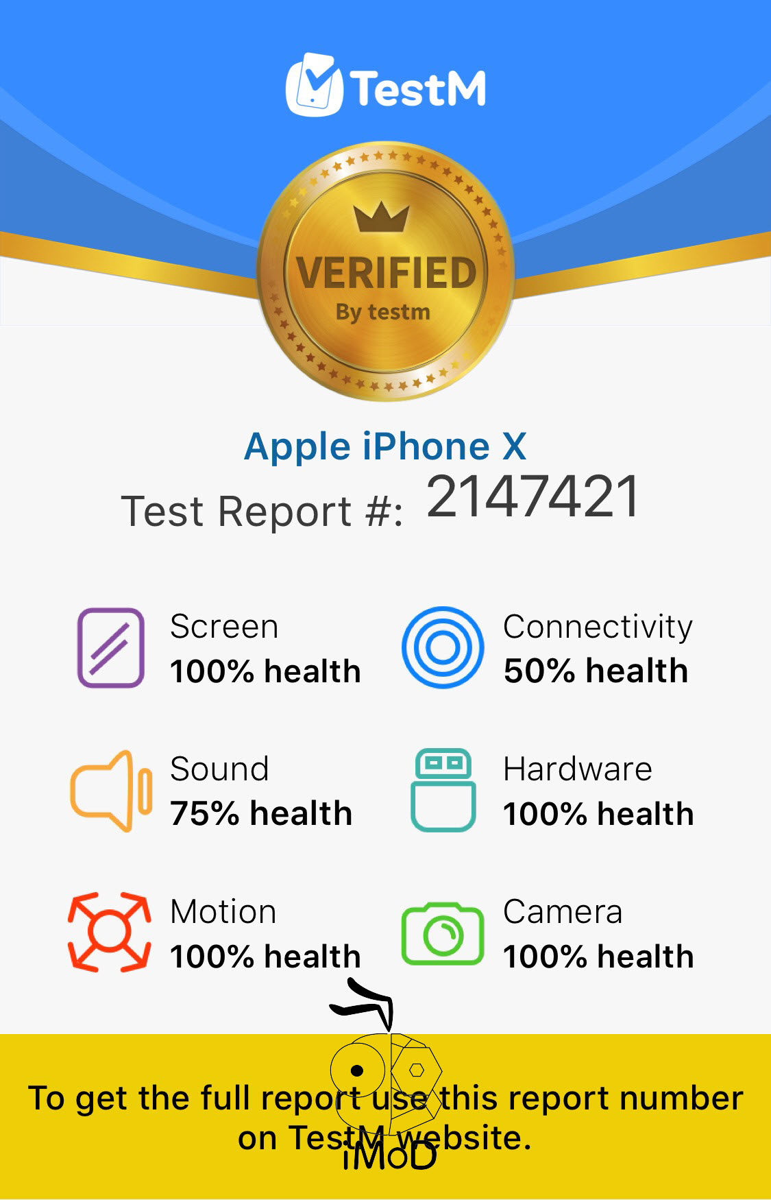 Testm Iphone Check Report 009