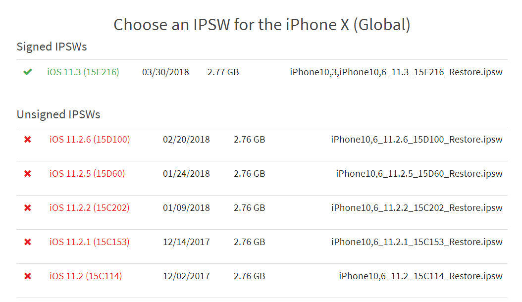 Apple Stop Signing Downgrade Ios 11 2 6 X 1