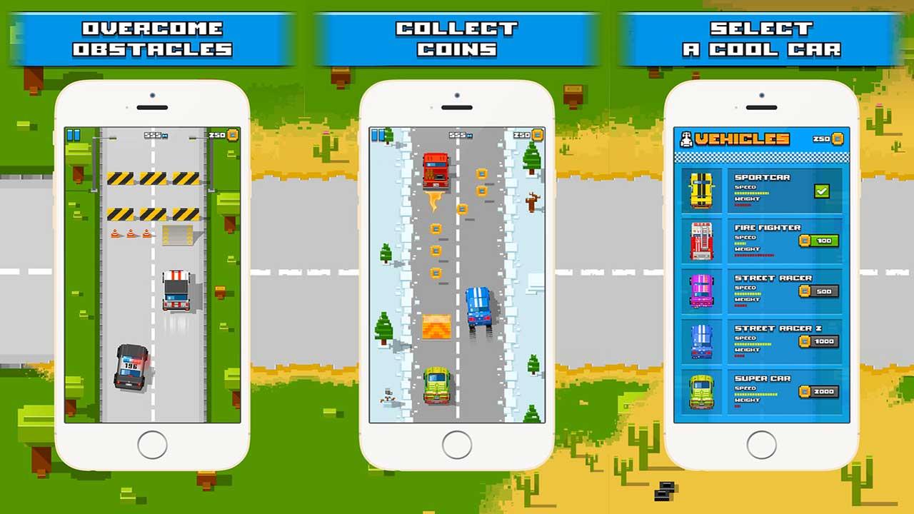 Game Speedy Road 8 Bit Cover