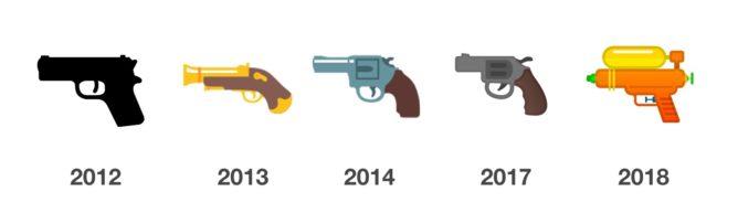 Google ปรับเปลี่ยน Emoji ปืนลูกโม่ให้เป็นปืนฉีดน้ำ