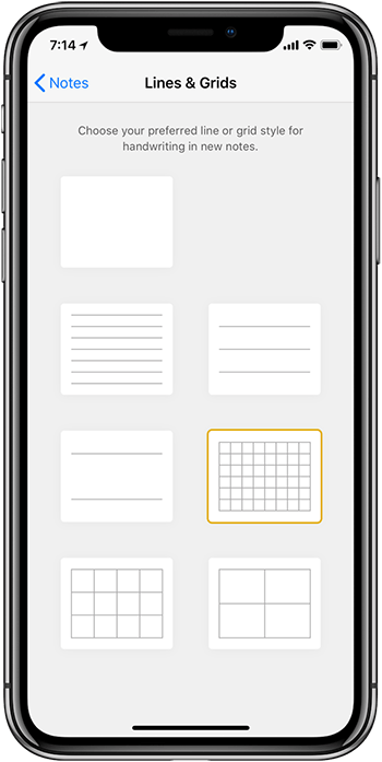 Ios 11 Settings Notes Lines And Grids