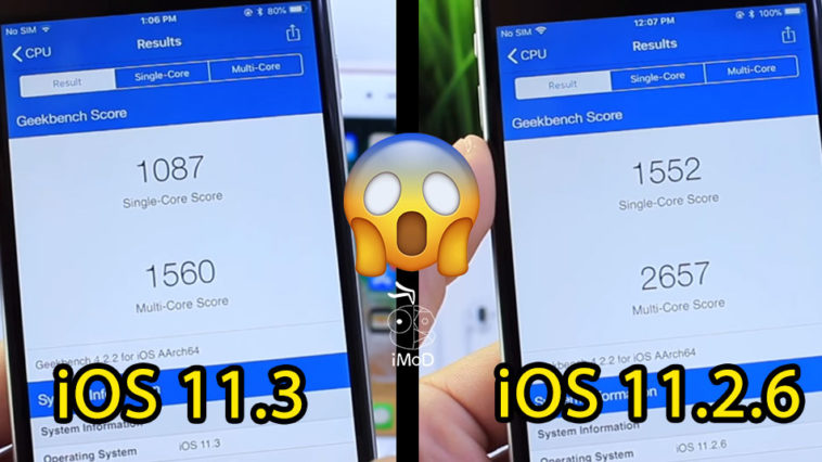 Ios 11 3 Compare With Ios 11 2 6 Performance
