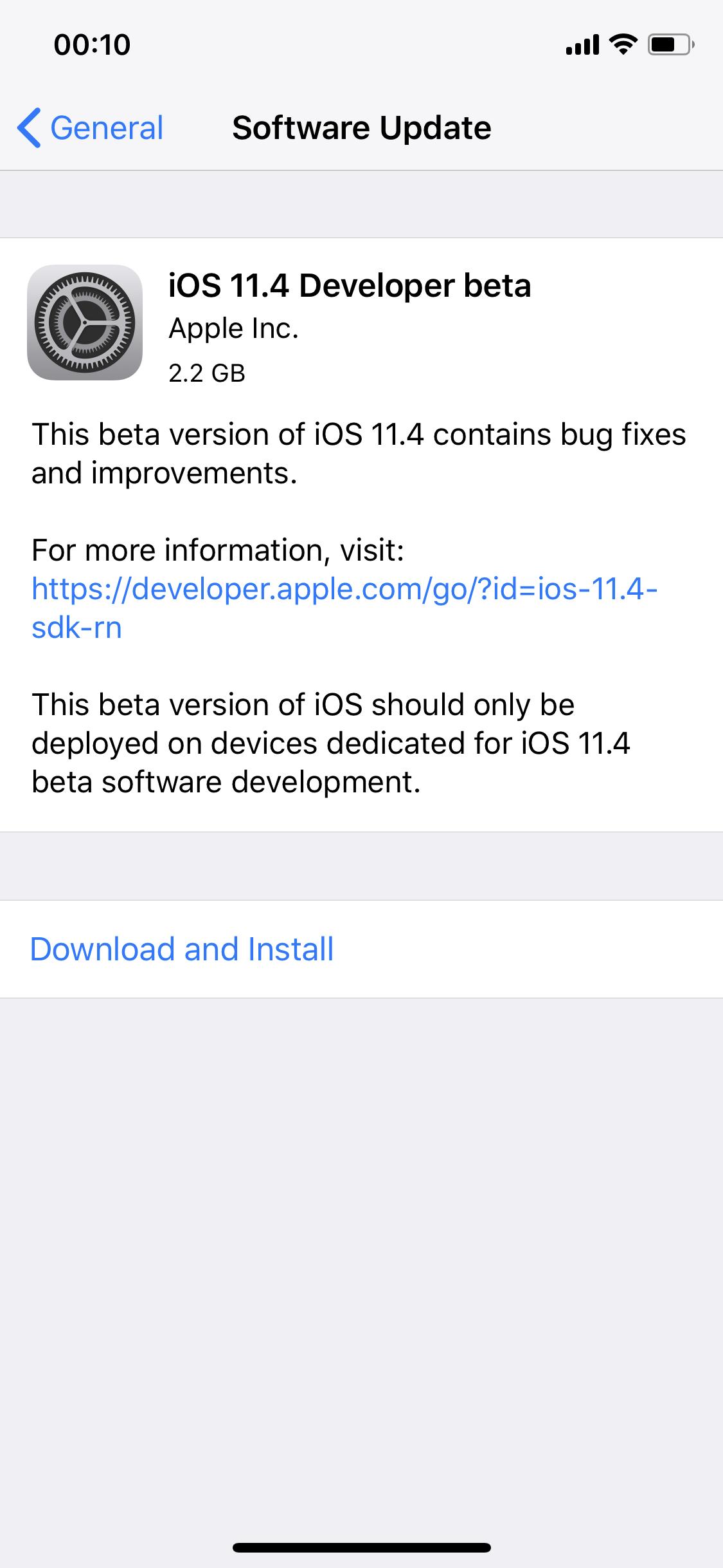 Ios 11 4 Beta 1 Seed 1