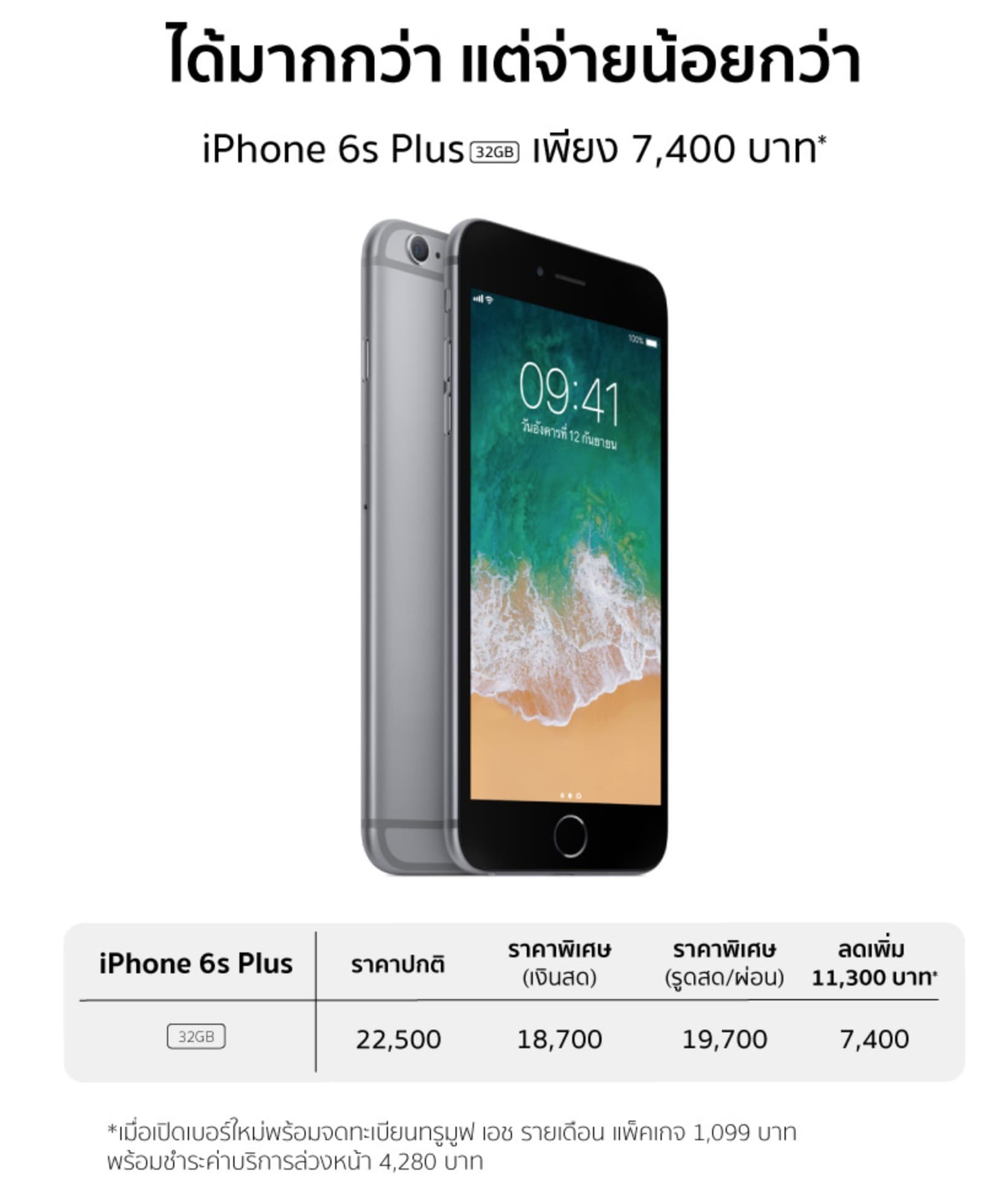 Iphone 6s Plus 7400 บาท