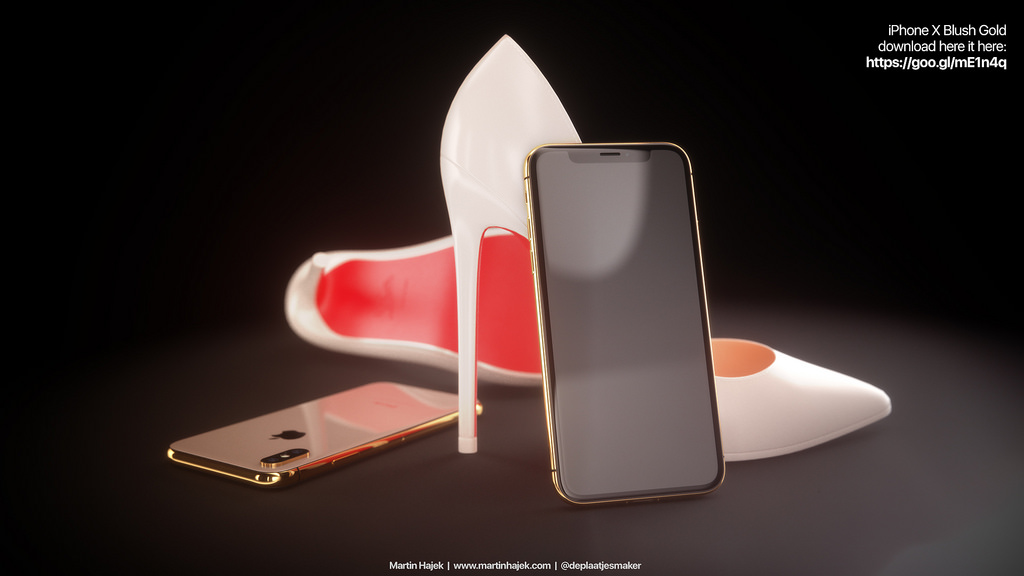 Iphone X Red And Blush Gold Renders 2