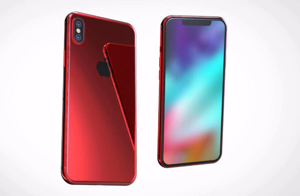 Iphone X X Plus Red Concept 004