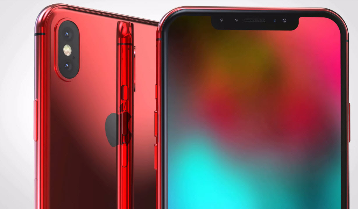 Iphone X X Plus Red Concept 007