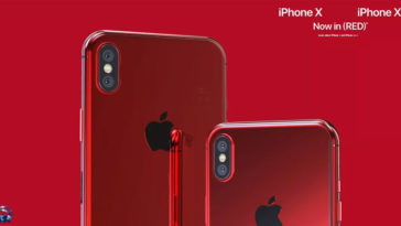 Iphone X X Plus Red Concept